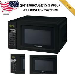 700W Digital Countertop Microwave Oven LED Dorm Room Office
