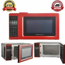Countertop Microwave Oven Digital LED Kitchen Cooking Red 0.