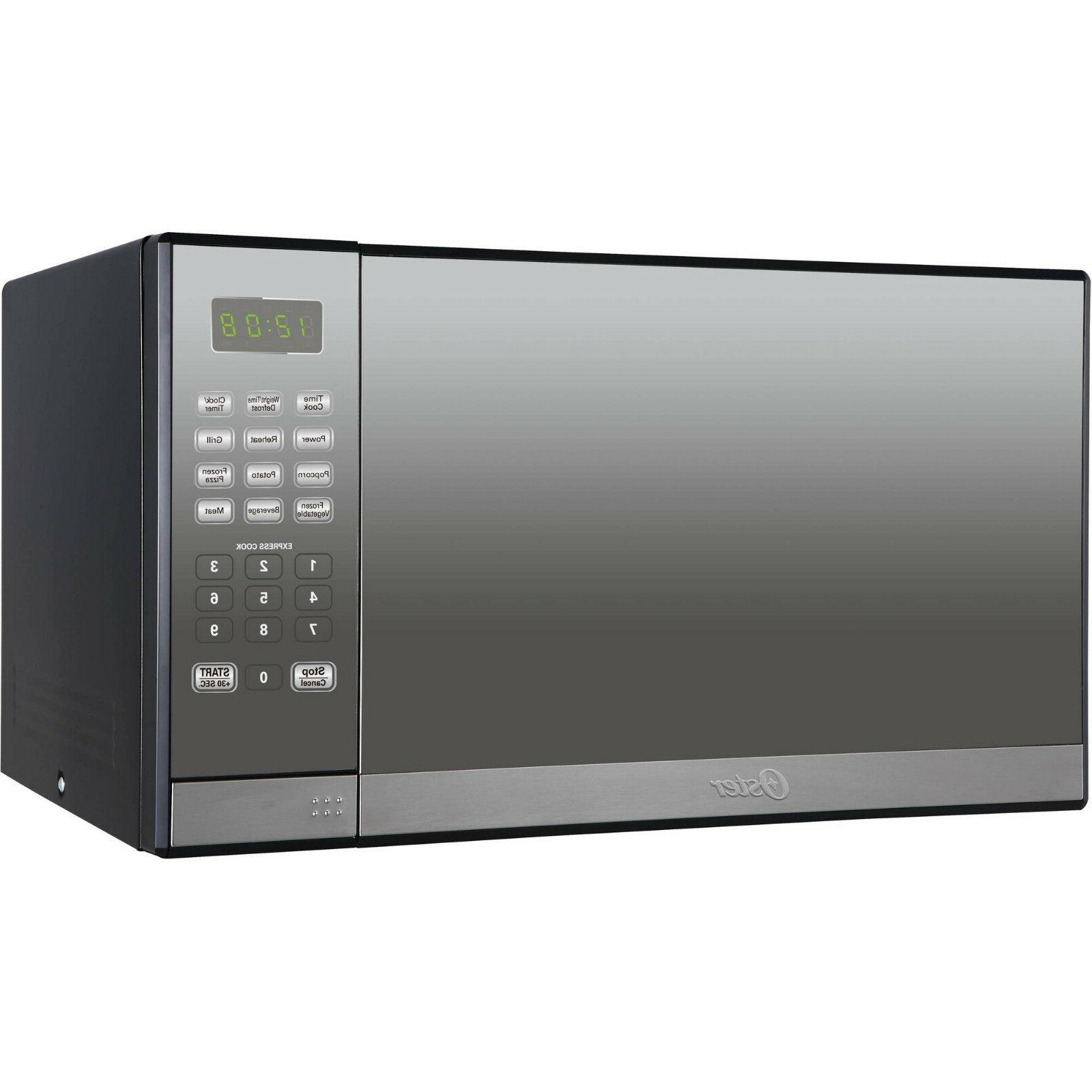 1000W Microwave Oven w/ Grill Countertop Mirror