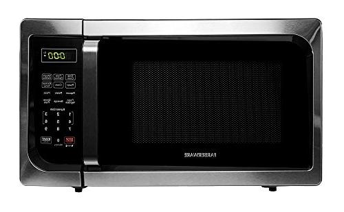 Farberware - Classic 0.9 Cu. Ft. Compact Microwave - Stainle
