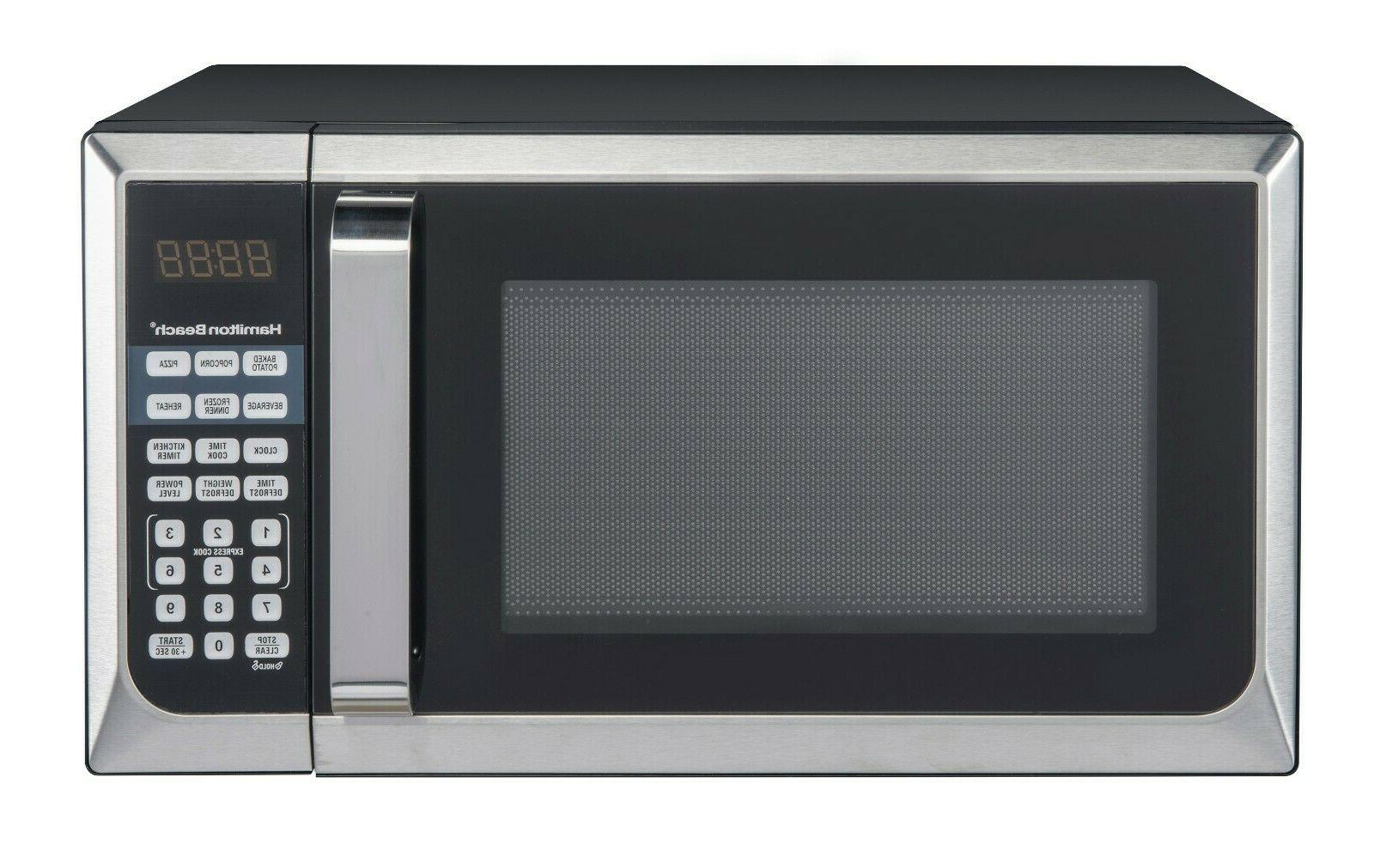 Countertop Microwave Stainless Home 900W