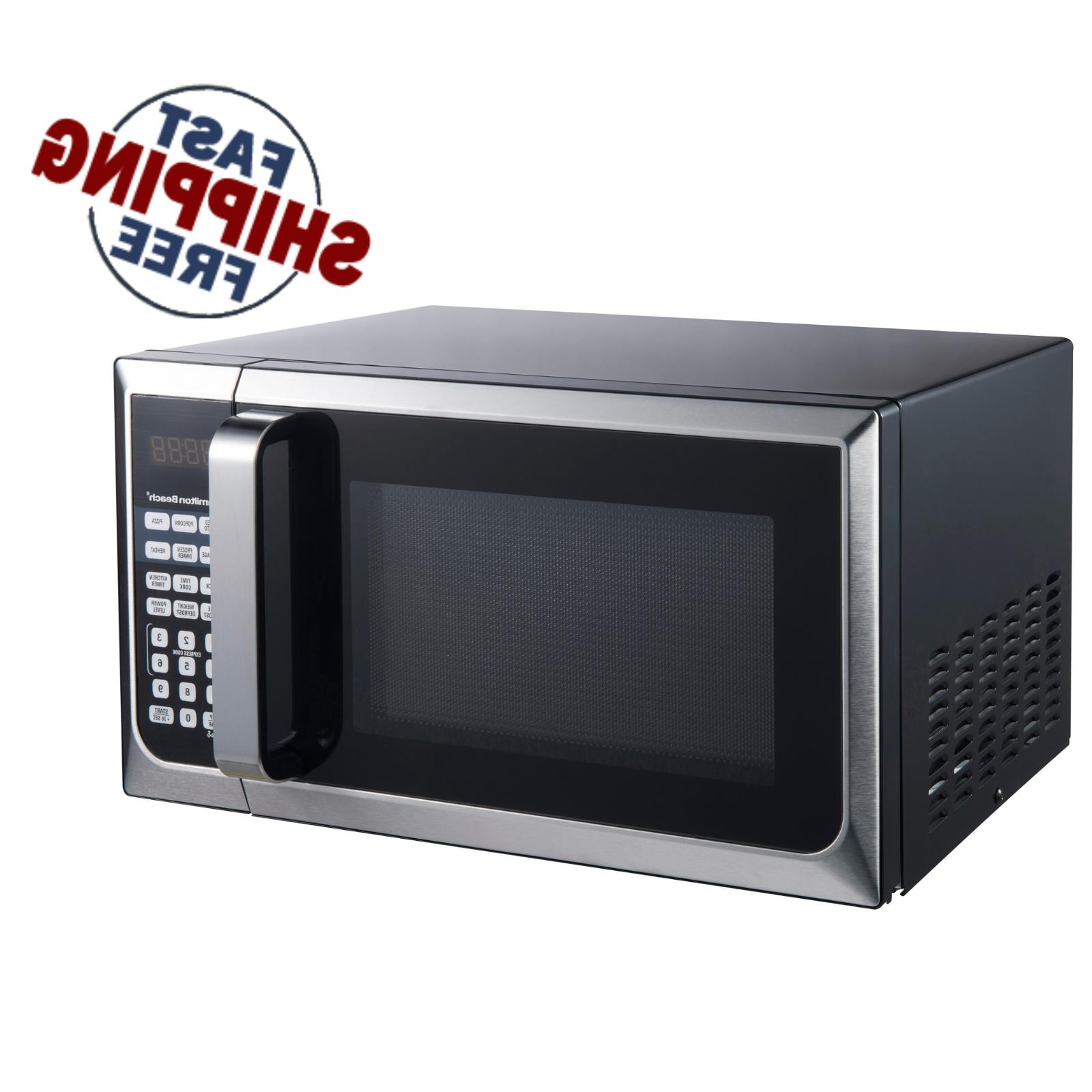 countertop microwave stainless steel home office led