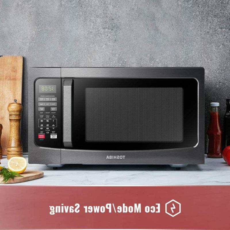 Toshiba EM131A5C-BS Microwave Oven with Clean ECO M
