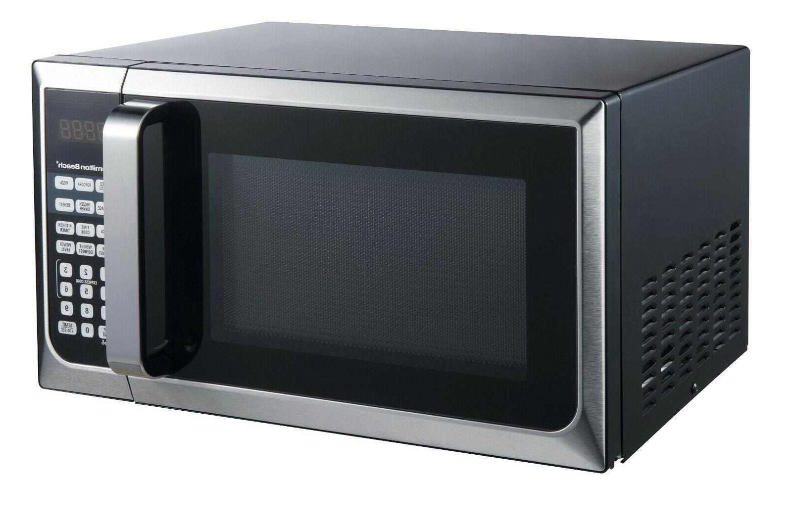 Stainless Steel Microwave Oven 0.9 Cu Ft For Kitchen Counter