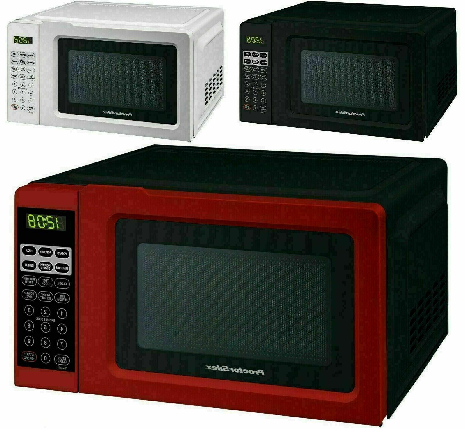red 0 7 cu ft microwave oven
