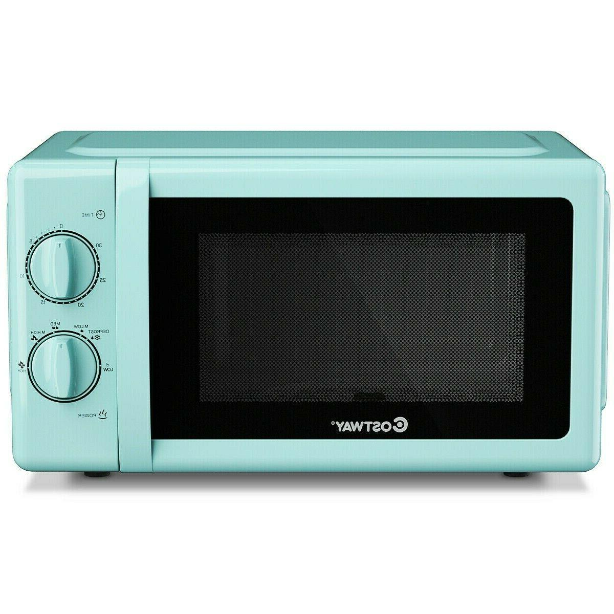 retro compact microwave oven teal color kitchen