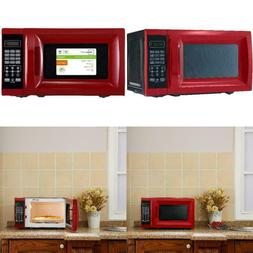 Mainstays 0.7 Cu. Ft. 700W Red Microwave With 10 Power Level