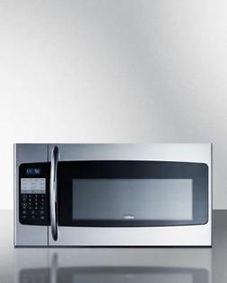 """Summit OTRSS301 30"""" Wide Over-The-Range Microwave In Stainle"""