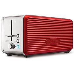 Toaster 4 Slice Browning Red and Chrome Removable Tray Kitch